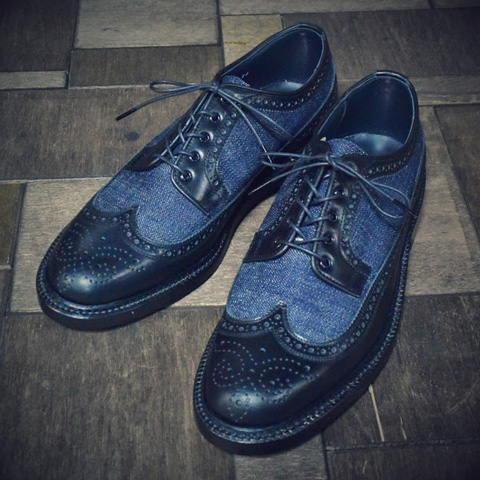 evisu jeans genes long john blog footwear shoes jeans denim wingtip classic men blue classic dandy herenschoen spijkerstof  (1)