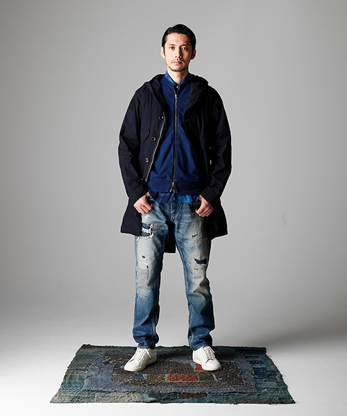 fdmtl japan longjohnblog long john blog spring summer 2017 collection ss17 blue indigo clothing collection jacket jeans denim repair patched patches (17)