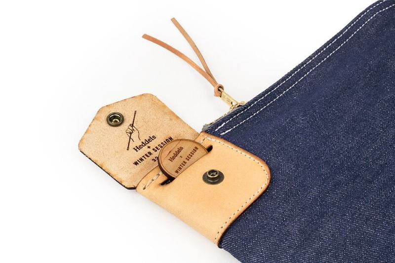 heddels winter session collaboration collab long john blog denim jeans bag bank bag platform winter 2016 limited edition cone mills fabric usa selvage selvedge (1)