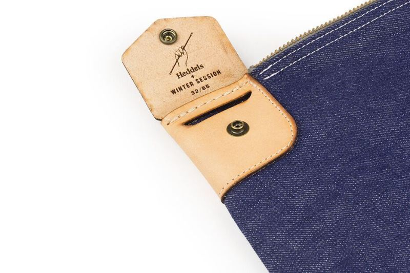 heddels winter session collaboration collab long john blog denim jeans bag bank bag platform winter 2016 limited edition cone mills fabric usa selvage selvedge (2)