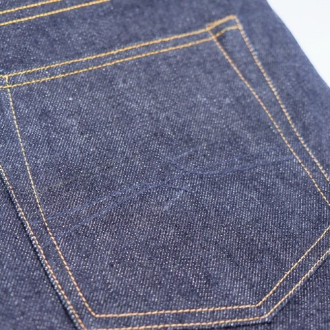 hoya apparel long john blog jeans denim indonesia blue rigid raw unwashed cone mills 13.5oz handmade machinery clothing spijkerbroek blauw 5 pocket selvage selvedge (4)