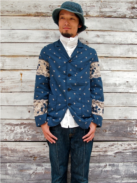 kapital japan jacket long john blog blue indigo clothing fashion kleding japans jasje workwear blauw fishing buttons knopen (1)