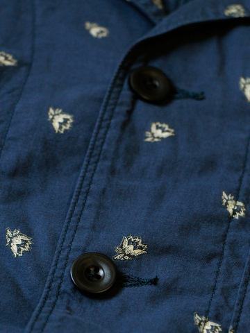kapital japan jacket long john blog blue indigo clothing fashion kleding japans jasje workwear blauw fishing buttons knopen (6)