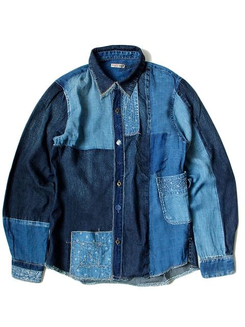kapital japan long john blog denim jeans shirts jackets jack boro sashiko stitching embroidery handmade blue indigo spring summer 2016 (4)