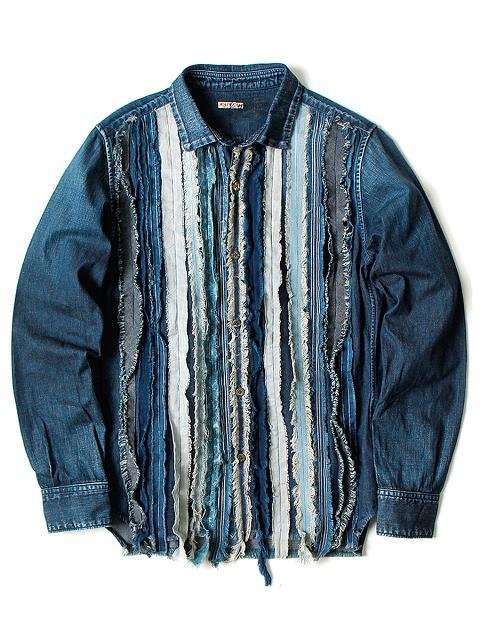 kapital japan long john blog denim jeans shirts jackets jack boro sashiko stitching embroidery handmade blue indigo spring summer 2016 (5)