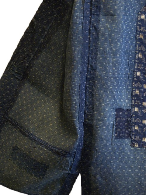 kimono japan long john blog blue workwear workers farmers blues indigo stitching sashiko rags blauw (7)