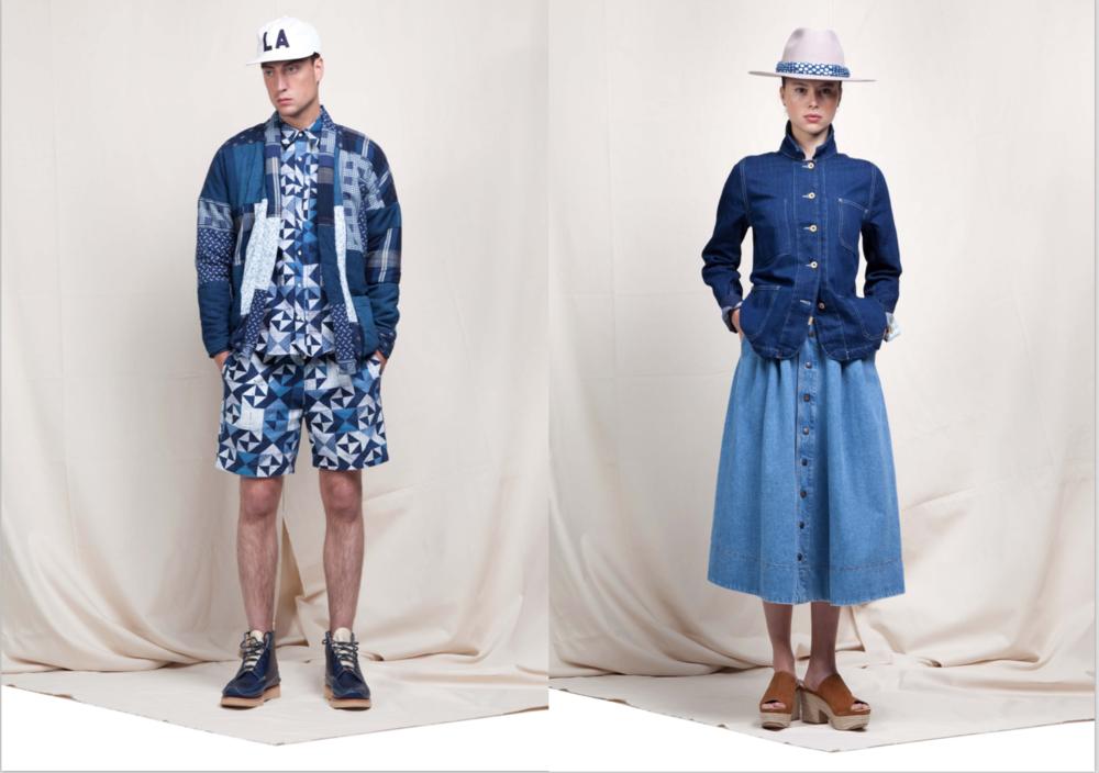 kings of indigo koi long john blog spring summer 2016 lookbook collection tony tonnaer blue indigo raw selvage selvedge workwear stripes bib overall dress women men amsterdam holland design pride (2)