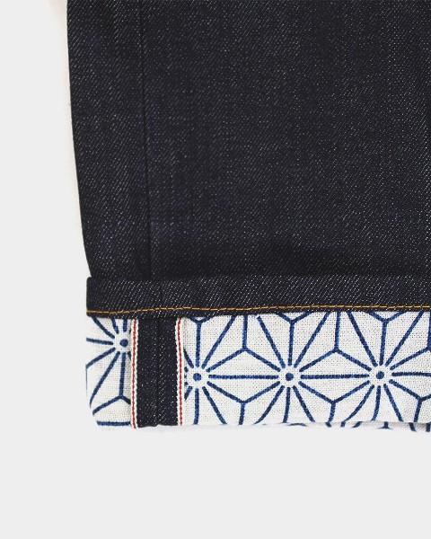 kiriko jeans denim long john blog blue indigo spijkerbroek kimono japan usa workwear 5 pocket leather patch straight fit yoke selvage selvedge zelfkant worn-out  (5)