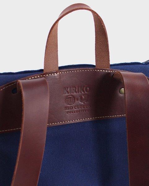 kiriko red cloud collab backpack long john blog brand portland limited edition boro sashiko blue indigo handmade craftsmanship blue indigo denim jeans(2)