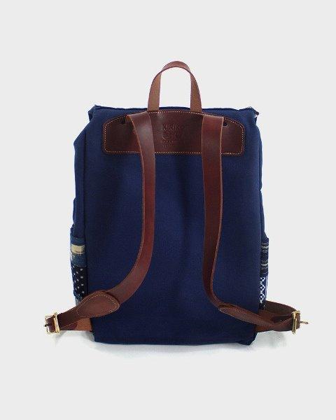 kiriko red cloud collab backpack long john blog brand portland limited edition boro sashiko blue indigo handmade craftsmanship blue indigo denim jeans(3)