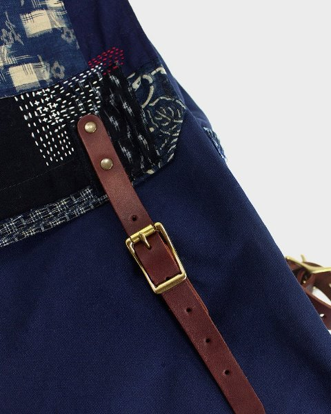 kiriko red cloud collab backpack long john blog brand portland limited edition boro sashiko blue indigo handmade craftsmanship blue indigo denim jeans(4)