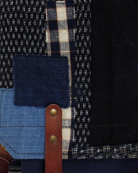 kiriko red cloud collab backpack long john blog brand portland limited edition boro sashiko blue indigo handmade craftsmanship blue indigo denim jeans(5)