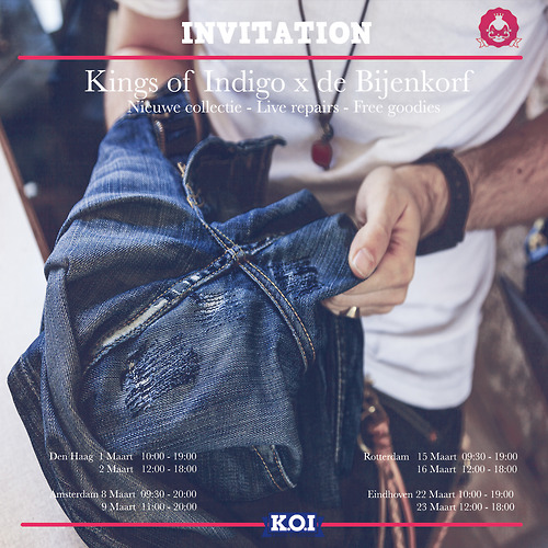 koi kings of indigo long john blog tony tonnaer jeans denim bijenkorf shop store event repair kit 2014 special handmade jean school amsterdam handmade rigid selvage (2)
