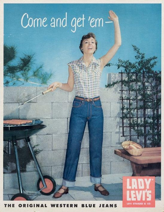 lady levis levi's jeans advertising long john blog jeans denim usa vintage  (4)