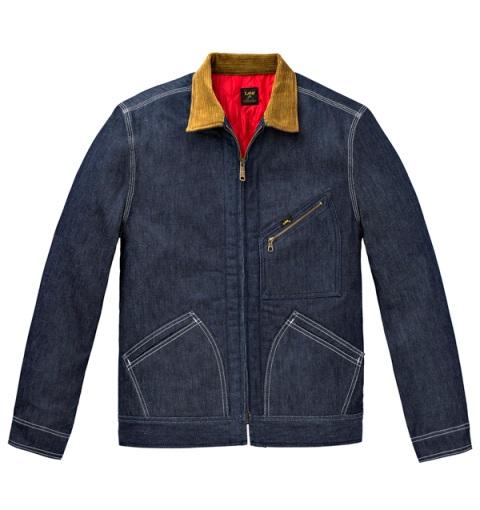 lee 101 zip jacket jeans denim blue fall winter 2016 collection long john blog denimheads denimpeople indigo blue workwear zipper  (2)