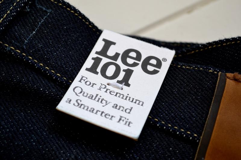 lee 101z jeans denim long john blog blue blauw 23oz limited edition 250 pieces usa denim selvage selvegde golden brown zipper lazy horn button leather patch 2013 right hand denim (3)