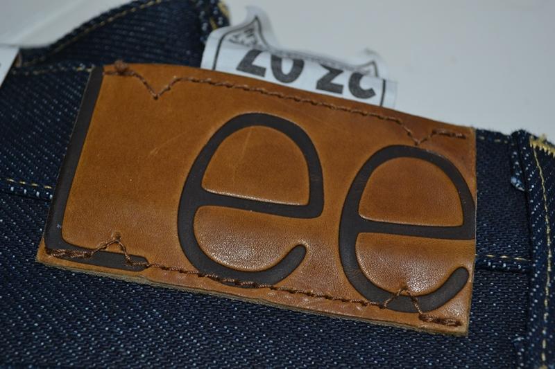 lee 101z jeans denim long john blog blue blauw 23oz limited edition 250 pieces usa denim selvage selvegde golden brown zipper lazy horn button leather patch 2013 right hand denim (4)