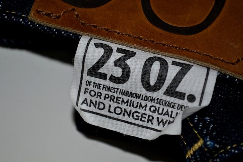 lee 101z jeans denim long john blog blue blauw 23oz limited edition 250 pieces usa denim selvage selvegde golden brown zipper lazy horn button leather patch 2013 right hand denim (5)