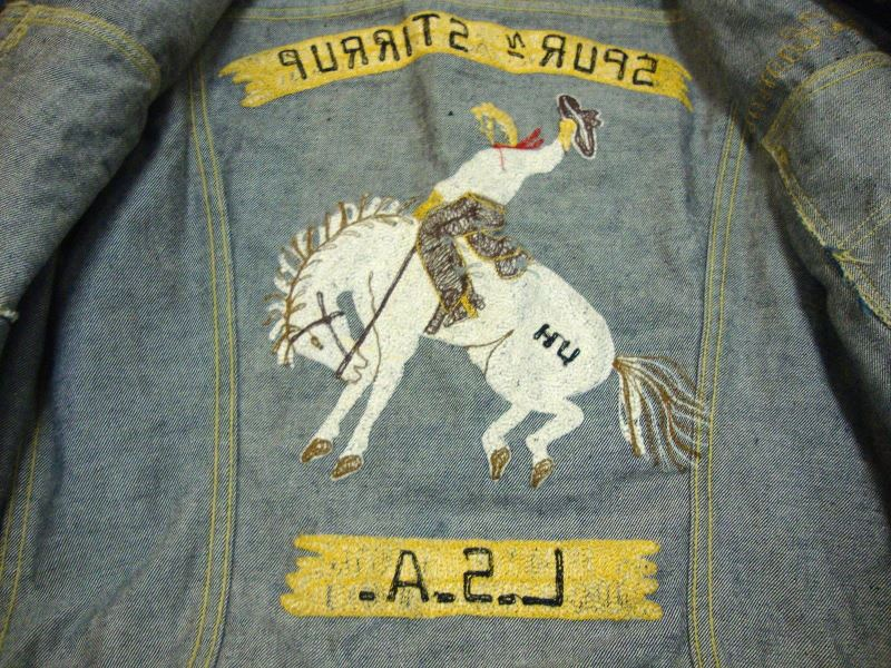 lee jeans 101-J jacket long john blog authentic blue indigo denim selvage yellow gold label selvedge usa western americana usa patched repair biker bikers cowboy miners (4)