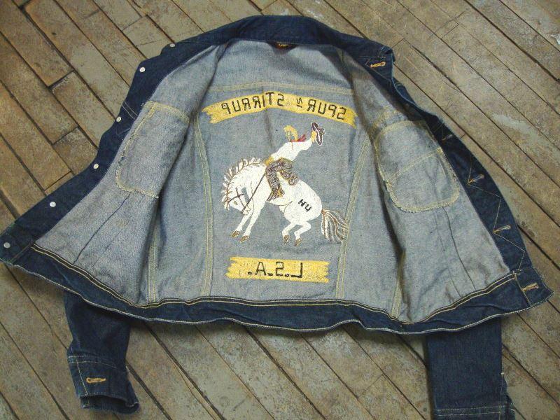 lee jeans 101-J jacket long john blog authentic blue indigo denim selvage yellow gold label selvedge usa western americana usa patched repair biker bikers cowboy miners (7)