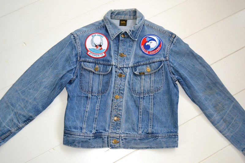 lee jeans rider jacket long john blog patches patched vintage original blue indigo worn-out treasure usa americana spijkerjas spijkerjack (2)