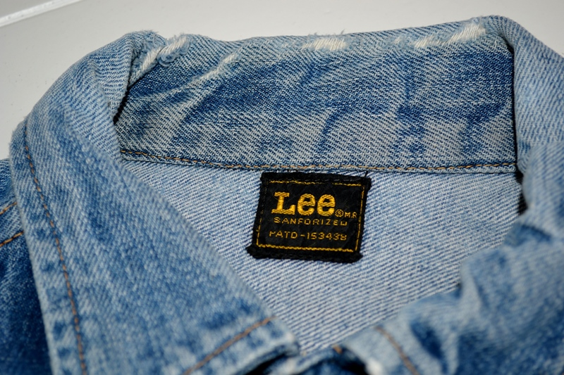 lee jeans rider jacket long john blog patches patched vintage original blue indigo worn-out treasure usa americana spijkerjas spijkerjack (6)