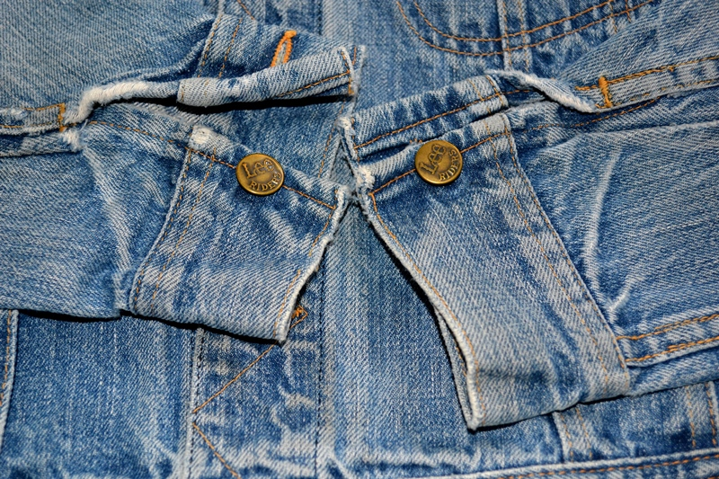 lee jeans rider jacket long john blog patches patched vintage original blue indigo worn-out treasure usa americana spijkerjas spijkerjack (9)