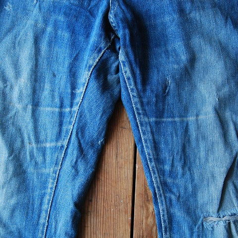 lee jeans vintage long john blog blue denim jeans ragtop clothing market david white 1945 selvage selvedge patch label needle spijkerbroek oud versleten blauw inseam pocket 5 pocket rivet rivets (9)