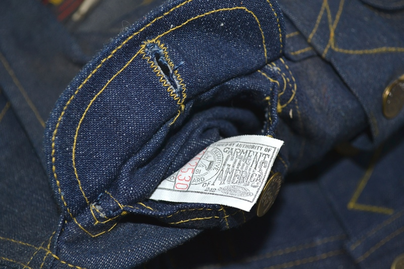 lee jeans vintage long john blog rider riders jacket union made sanforized original usa us made denim jeans deadstock (10)