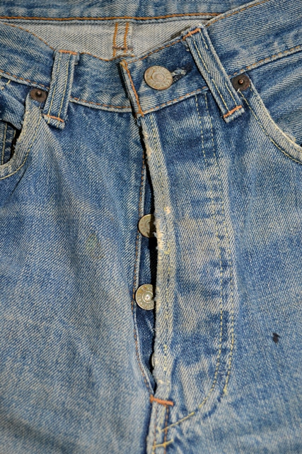 levi's 501 big e 1960 vintage long john blog jeans denim rare treasure worn-out blue blauw usa us cone mills levi strauss selvage selvedge button number 6 washed out rigid raw unwashed 5 pocket  (10)