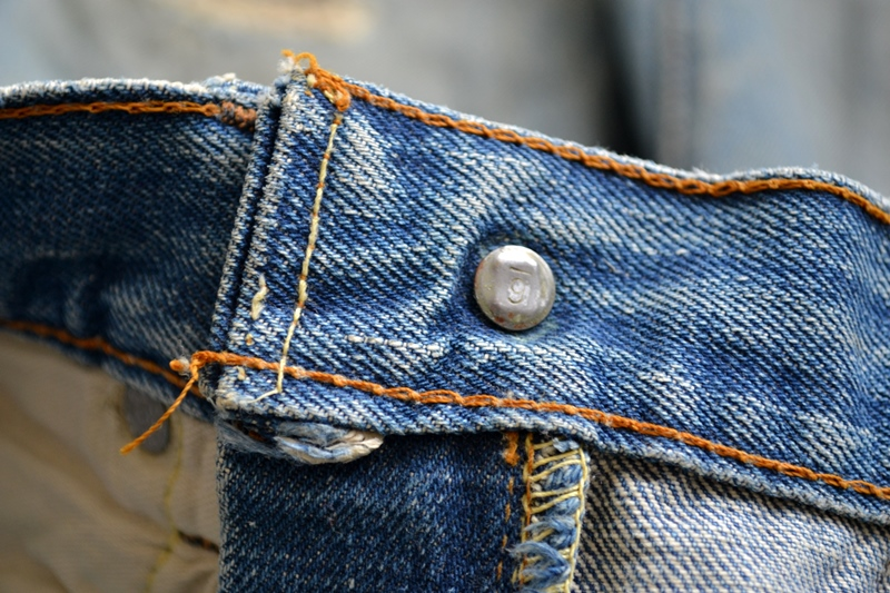 levi's 501 big e 1960 vintage long john blog jeans denim rare treasure worn-out blue blauw usa us cone mills levi strauss selvage selvedge button number 6 washed out rigid raw unwashed 5 pocket  (11)
