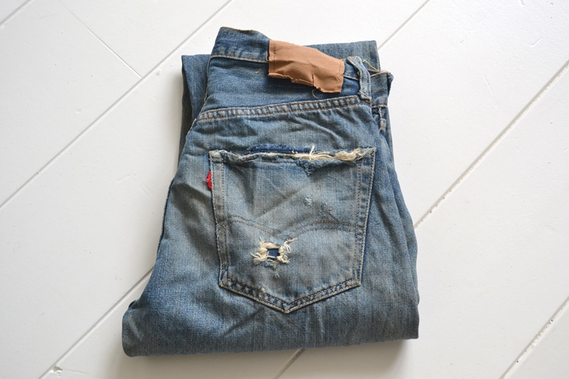 levi's 501 big e 1960 vintage long john blog jeans denim rare treasure worn-out blue blauw usa us cone mills levi strauss selvage selvedge button number 6 washed out rigid raw unwashed 5 pocket  (2)