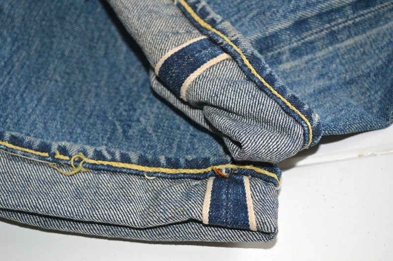 levi's 501 big e 1960 vintage long john blog jeans denim rare treasure worn-out blue blauw usa us cone mills levi strauss selvage selvedge button number 6 washed out rigid raw unwashed 5 pocket  (8)