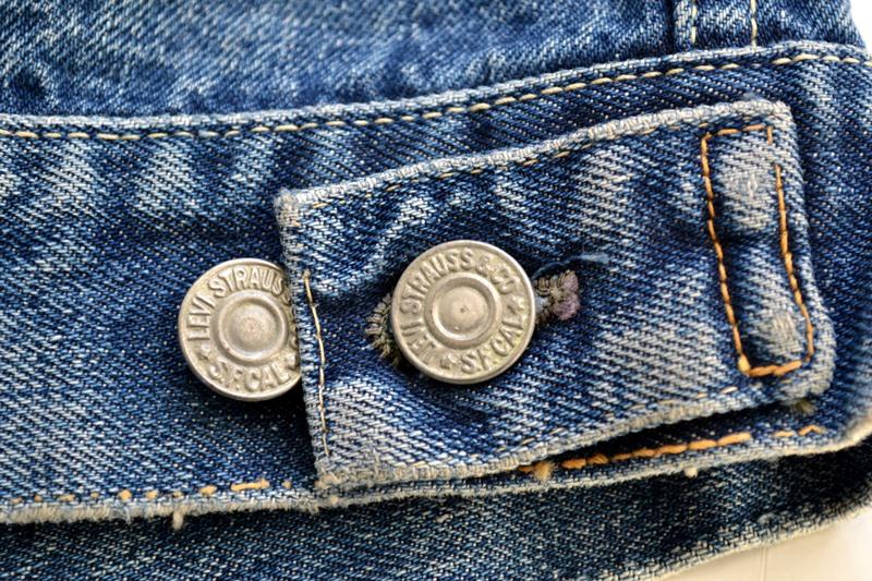 levis jeans big e type 2 507XX jacket jack long john blog biker cut-off sleeveless selvage selvedge white nomads vintage original usa harley davidson red tab us california blue indigo (12)
