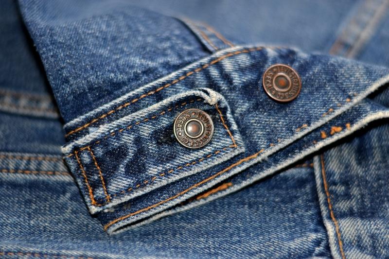 levi's jeans long john blog jacket vintage original big e bige trucker type 3 blue denim usa made cone mills red tab (1)