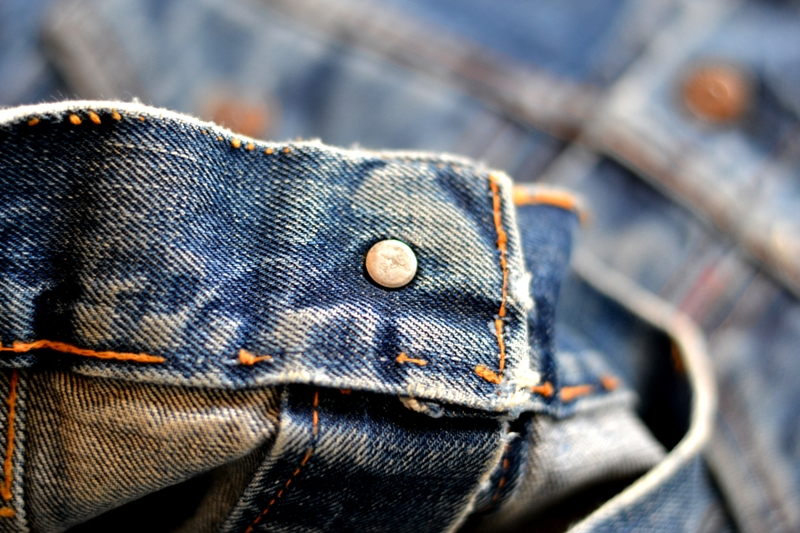 levi's jeans long john blog jacket vintage original big e bige trucker type 3 blue denim usa made cone mills red tab (10)