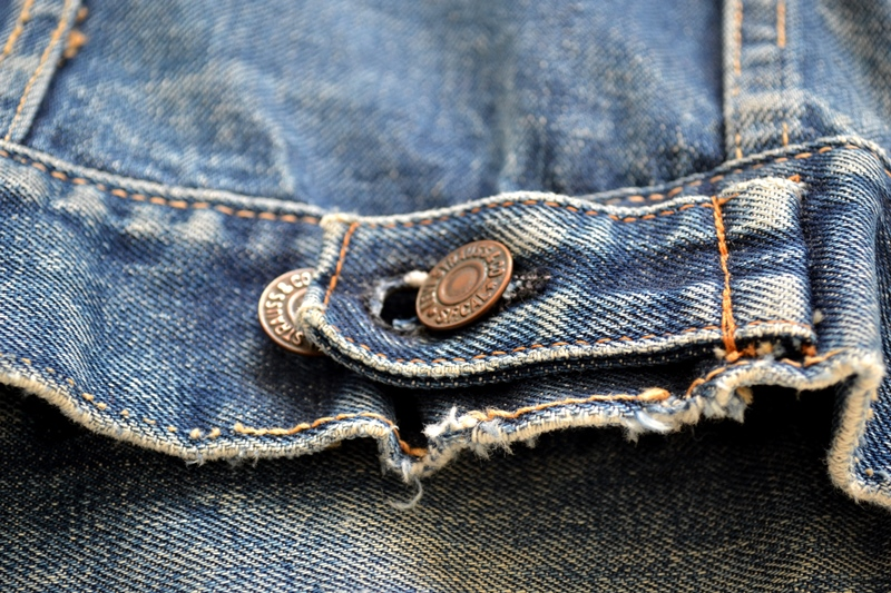 levis trucker jacket 557xx type 3 long john blog blue indigo denim jeans usa western 1962 worn out vintage original item clothing cowboys miners spijkerjas spijkerjack levi strauss (1)
