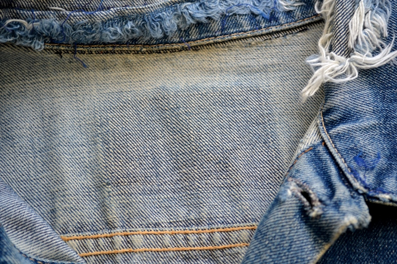 levis trucker jacket 557xx type 3 long john blog blue indigo denim jeans usa western 1962 worn out vintage original item clothing cowboys miners spijkerjas spijkerjack levi strauss (12)