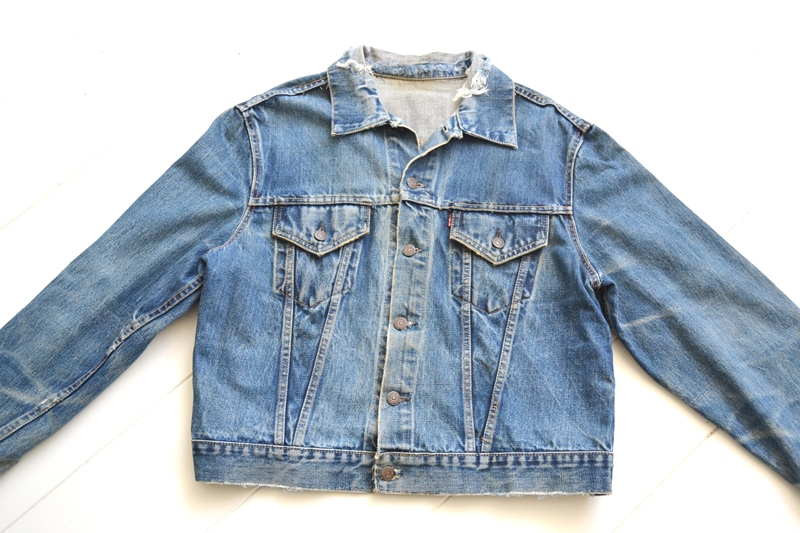 levis trucker jacket 557xx type 3 long john blog blue indigo denim jeans usa western 1962 worn out vintage original item clothing cowboys miners spijkerjas spijkerjack levi strauss (2)