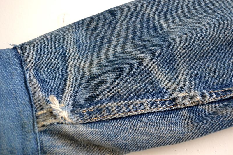 levis trucker jacket 557xx type 3 long john blog blue indigo denim jeans usa western 1962 worn out vintage original item clothing cowboys miners spijkerjas spijkerjack levi strauss (8)