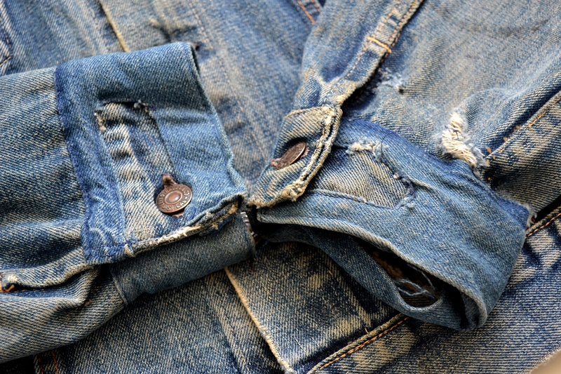 levis trucker jacket 557xx type 3 long john blog blue indigo denim jeans usa western 1962 worn out vintage original item clothing cowboys miners spijkerjas spijkerjack levi strauss (9)