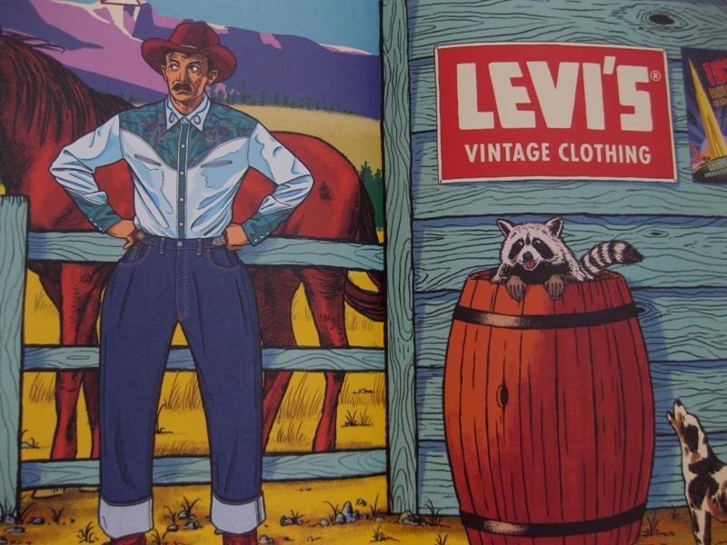 levi's vintage clothing lvc long john blog jeans denim usa vintage rigid raw blue spring summer 2014 lookbook amsterdam authentic american usa bill crosby big e orange tab shirt archives (6)