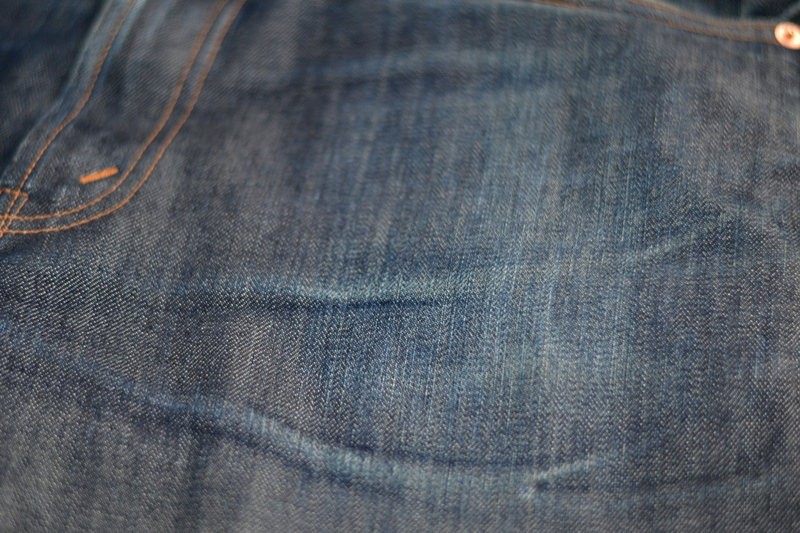 levis vintage clothing lvc long john blog rigid raw unwashed blue 14oz cone mills big e denim jeans usa worn-out (4)