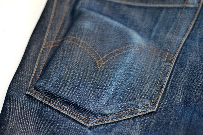levis vintage clothing lvc long john blog rigid raw unwashed blue 14oz cone mills big e denim jeans usa worn-out (8)