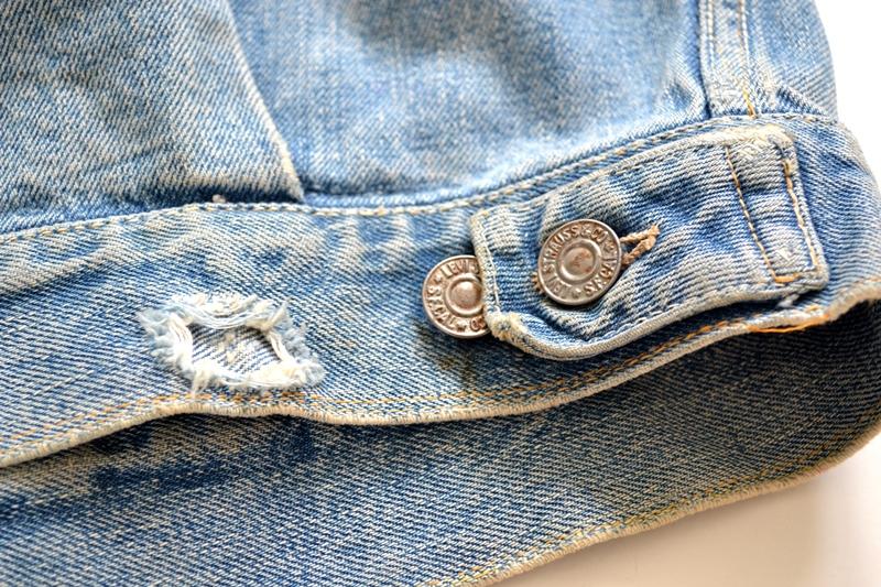levi's vintage long john blog 507XX jack jacket type 2 1950 big e bige red tab worn-out original bleu inidgo usa america selvage selvedge buttons rock and roll elvis james dean (11)