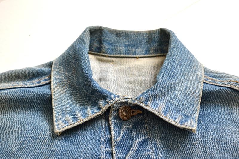 levi's vintage long john blog 507XX jack jacket type 2 1950 big e bige red tab worn-out original bleu inidgo usa america selvage selvedge buttons rock and roll elvis james dean (3)