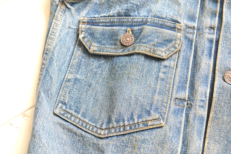 levi's vintage long john blog 507XX jack jacket type 2 1950 big e bige red tab worn-out original bleu inidgo usa america selvage selvedge buttons rock and roll elvis james dean (5)