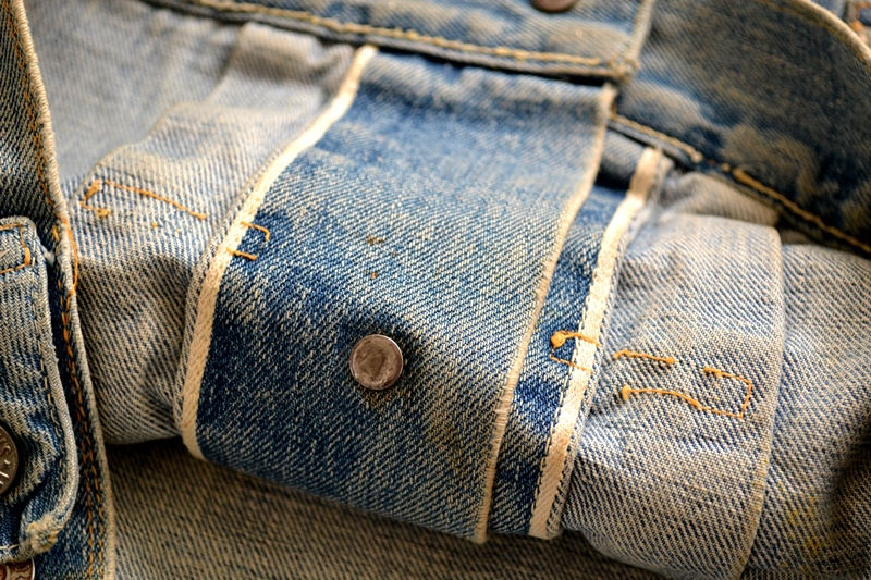 levi's vintage long john blog 507XX jack jacket type 2 1950 big e bige red tab worn-out original bleu inidgo usa america selvage selvedge buttons rock and roll elvis james dean (9)