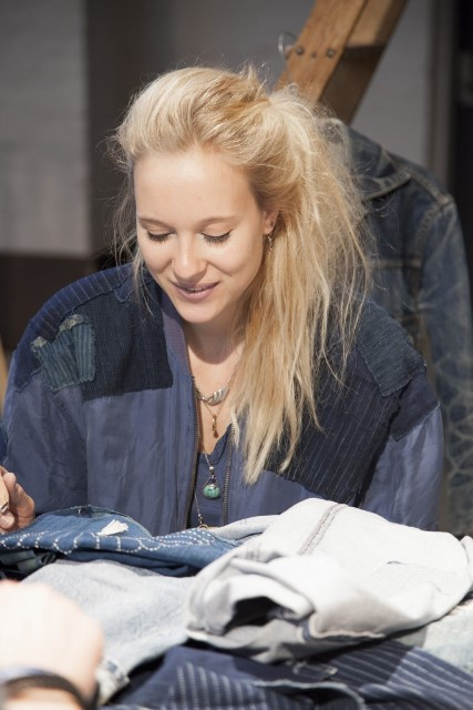 lizzie kroeze facing west amsterdam indigo long john blog expo workwear jackets jeans denim blue textilles clothing bread and butter july 2014 germany handmade sashiko japan usa us traditional (1)