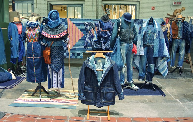 lizzie kroeze facing west amsterdam indigo long john blog expo workwear jackets jeans denim blue textilles clothing bread and butter july 2014 germany handmade sashiko japan usa us traditional (3)